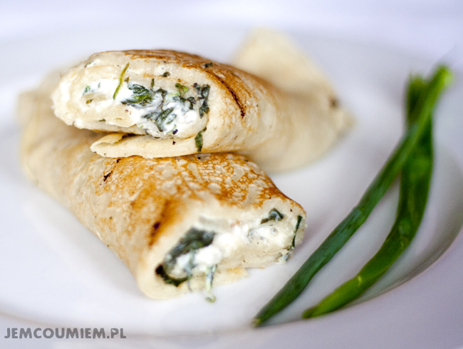 nalesniki ze szpinakiem i serem feta