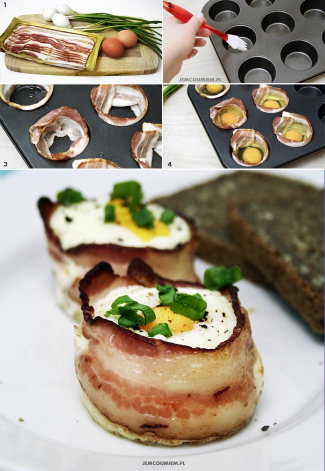 Kubeczki z boczku z jajkiem_collage